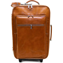 Load image into Gallery viewer, Leather Rolling Luggage Floto Venezia Trolley olive monogram