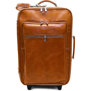 Leather Rolling Luggage Floto Venezia Trolley olive monogram