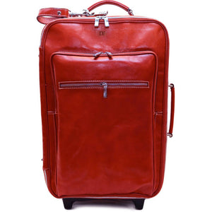 Leather Rolling Luggage Floto Venezia Trolley red monogram