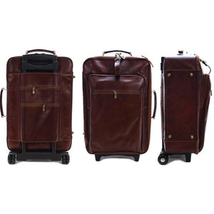Leather Rolling Luggage Floto Venezia Trolley views