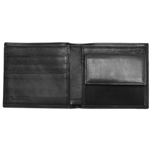 Leather Coin Wallet Floto Napoli black inside