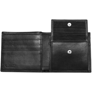 Leather Coin Wallet Floto Napoli black inside 2