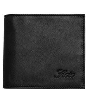 Floto Italian Leather Napoliy Coin Wallet men's black