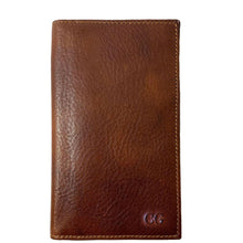 Load image into Gallery viewer, Floto Italian Leather Long Wallet Breast Pocket Venezia brown monogram