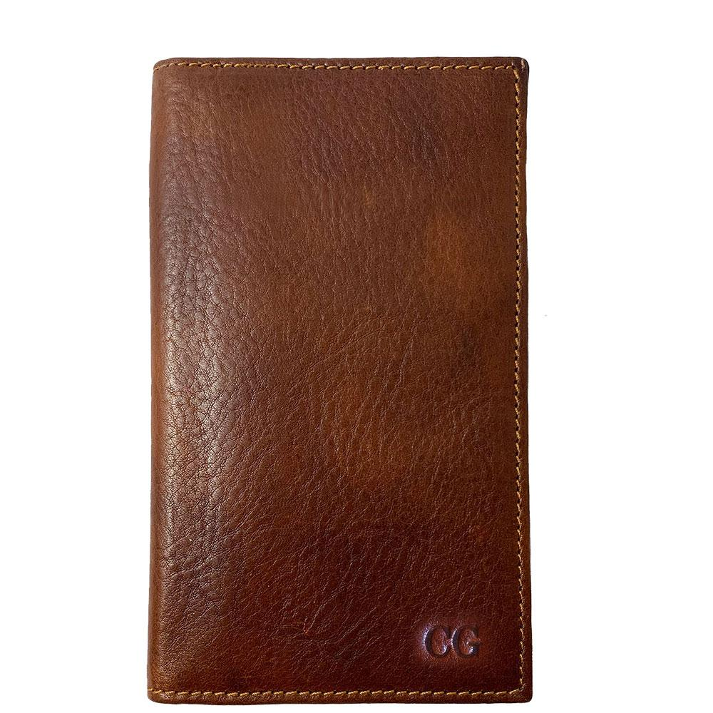 Floto Italian Leather Long Wallet Breast Pocket Venezia brown monogram