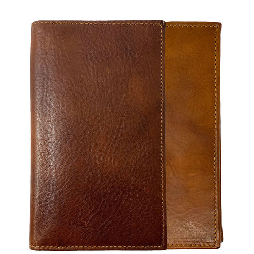 Floto Italian Leather Long Wallet Breast Pocket Venezia brown 1