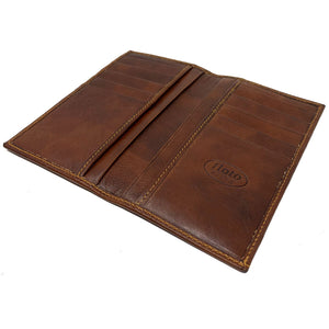 Floto Italian Leather Long Wallet Breast Pocket Venezia brown 4