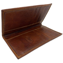 Load image into Gallery viewer, Floto Italian Leather Long Wallet Breast Pocket Venezia brown 2