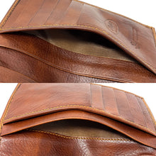 Load image into Gallery viewer, Floto Italian Leather Long Wallet Breast Pocket Venezia brown 3