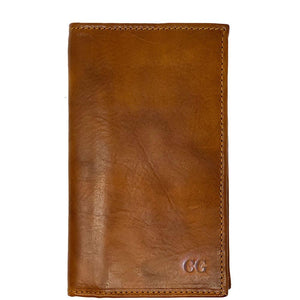 Floto Italian Leather Long Wallet Breast Pocket Venezia brown tobacco monogram