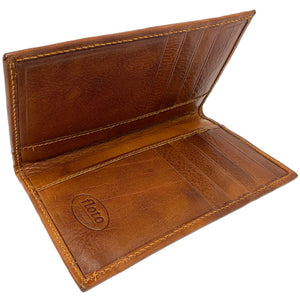 Floto Italian Leather Long Wallet Breast Pocket Venezia brown tobacco 2