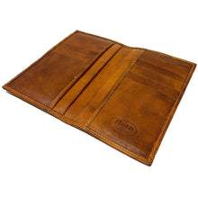 Load image into Gallery viewer, Floto Italian Leather Long Wallet Breast Pocket Venezia brown tobacco 4
