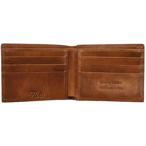 Roma Leather Wallet inside brown