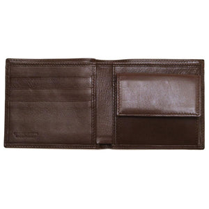 Leather Coin Wallet Floto Napoli brown inside