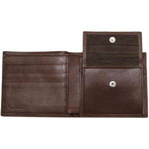 Leather Coin Wallet Floto Napoli brown inside 2