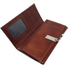 Load image into Gallery viewer, Italian Leather Checkbook Wallet Floto Firenze with Change Pouch