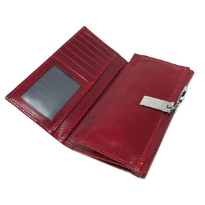 Italian Leather Checkbook Wallet Floto Firenze with Change Pouch