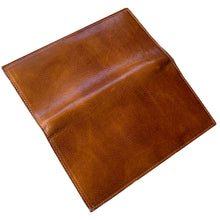 Load image into Gallery viewer, Leather Snap Wallet Long Checkbook Floto Roma Brown 9