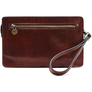 Floto Italian Leather Wristlet Handbag Purse Firenze  back