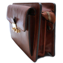 Load image into Gallery viewer, Leather Wristlet Handbag Floto end