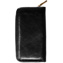 Load image into Gallery viewer, leather zipper wallet floto venezia black
