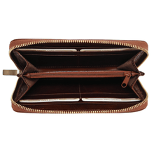 Load image into Gallery viewer, leather zipper wallet floto venezia brown