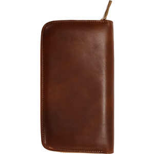 leather zipper wallet floto venezia brown