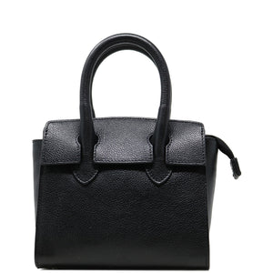 Leather Handbag Italian Floto Rapallo Mini Women's Bag black