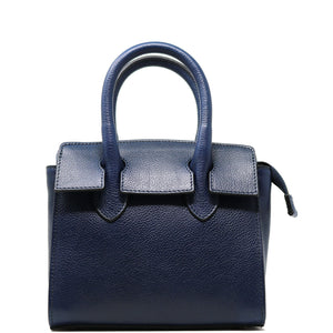 Leather Handbag Italian Floto Rapallo Mini Women's Bag blue
