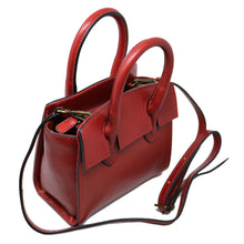 Load image into Gallery viewer, Leather Handbag Italian Floto Rapallo Mini Women's Bag red 2