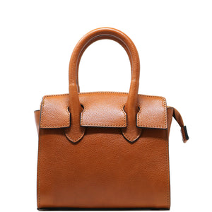 Leather Handbag Italian Floto Rapallo Mini Women's Bag light brown