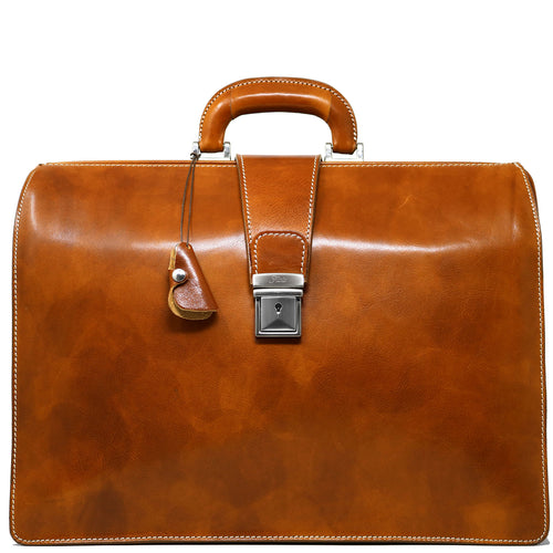 leather briefcase attache floto ciabatta olive brown