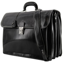 Load image into Gallery viewer, Floto leather briefcase Firenze black 2