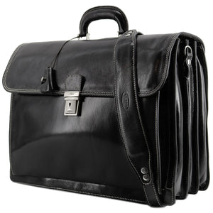 Floto leather briefcase Firenze black 2