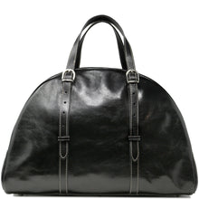 Load image into Gallery viewer, Leather Duffle Travel Bag Carryon Overnighter Gym Bag Floto Duomo black