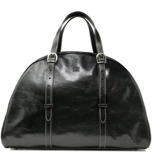 Load image into Gallery viewer, Leather Duffle Travel Bag Carryon Overnighter Gym Bag Floto Duomo black monogram