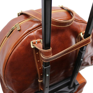 Leather Duffle Travel Bag Carryon Overnighter Gym Bag Floto Duomo 3