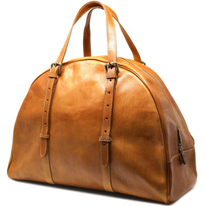 Leather Duffle Travel Bag Carryon Overnighter Gym Bag Floto Duomo tobacco brown 2