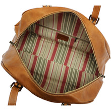 Load image into Gallery viewer, Leather Duffle Travel Bag Carryon Overnighter Gym Bag Floto Duomo tobacco brown 5