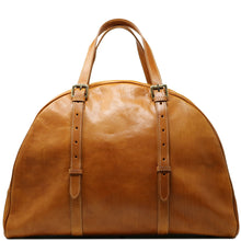 Load image into Gallery viewer, Leather Duffle Travel Bag Carryon Overnighter Gym Bag Floto Duomo tobacco brown