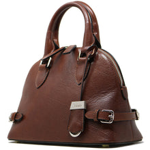 Load image into Gallery viewer, Italian Leather Handbag Women's Bag Floto Ragazza brown 4