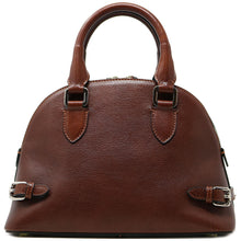 Load image into Gallery viewer, Italian Leather Handbag Women's Bag Floto Ragazza brown 5