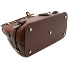 Load image into Gallery viewer, Italian Leather Handbag Women's Bag Floto Ragazza brown 6
