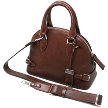 Load image into Gallery viewer, Italian Leather Handbag Women's Bag Floto Ragazza brown 3
