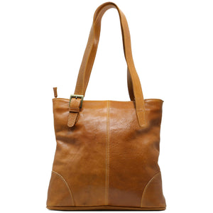 Italian Leather Shoulder Bag Women's Crossbody Floto Tavoli Brown