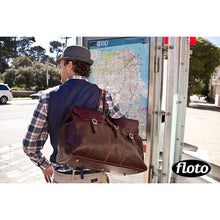 Load image into Gallery viewer, leather travel bag floto
