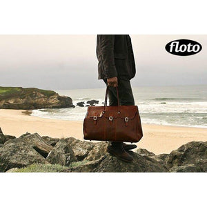 leather travel bag floto