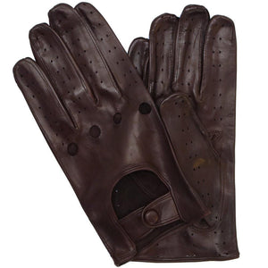 Floto men's brown leather driving gloves