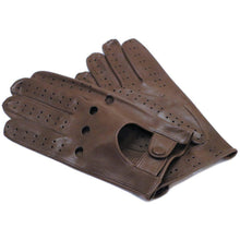 Load image into Gallery viewer, Floto men's brown leather driving gloves