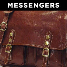 Load image into Gallery viewer, Leather Messenger Bag